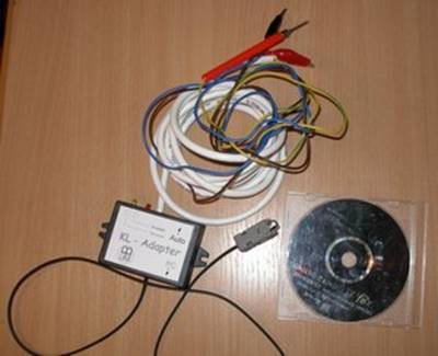 Схема USB K-L-Line адаптера. .  Скачать печатную плату в формате LAY.